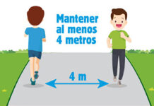 Madrid recomienda 4 metros entre deportistas, pero sigue con todos sus parques cerrados y sin ensanchar aceras