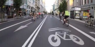 Vídeo: Así lucía el último día de la Fase 0 la Gran Vía de Madrid, llena de bicicletas