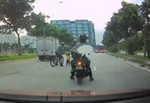 Vídeo-Un-ciclista-rescata-a-un-niño-en-patinete-en-medio-de-una-peligrosa-carretera