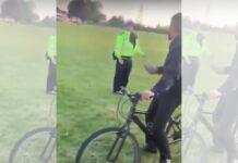 Intimidan y le quitan la bicicleta a un policía que pedía el distanciamiento social a un grupo de jóvenes