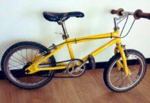 Así era la primera bicicleta de Egan Bernal. Era amarilla por algo...