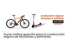 Cursos gratuitos de conducción segura de bicicletas y patinetes online