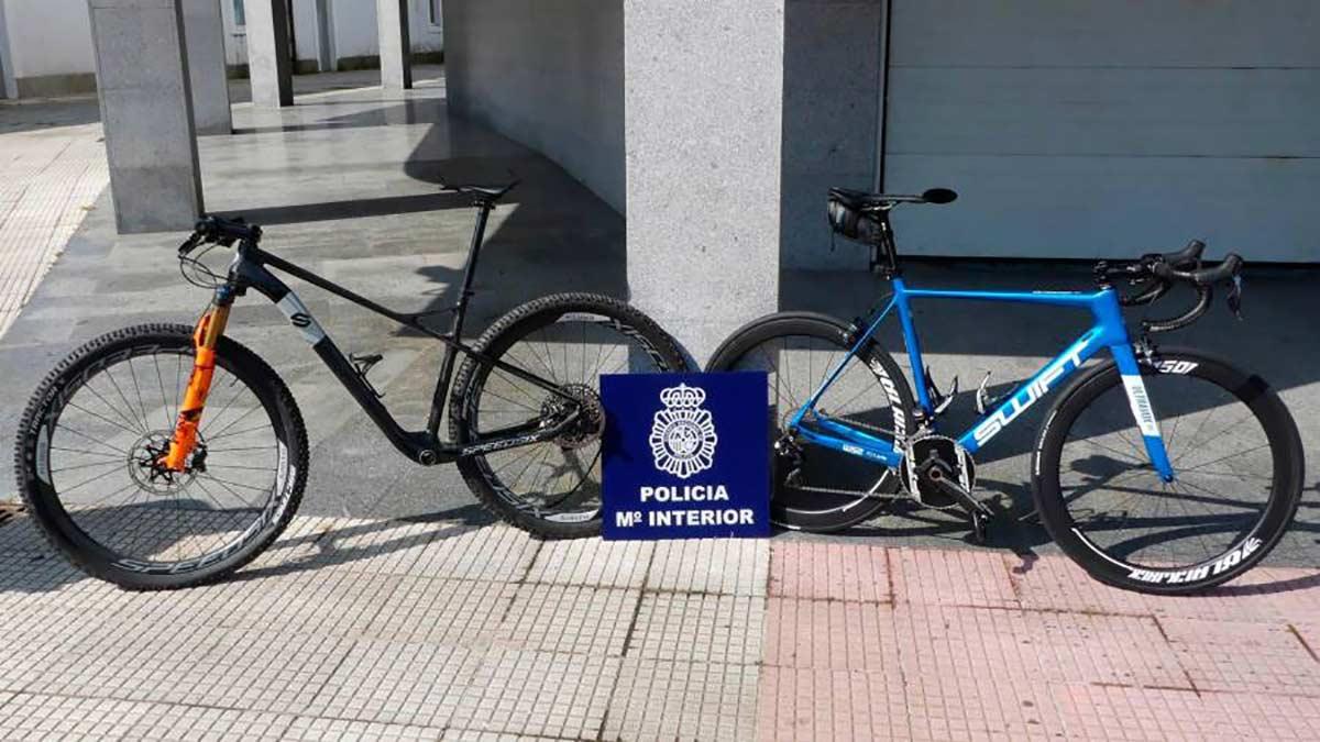 Detenidas dos personas por el robo de las bicicletas del ciclista profesional Gustavo César Veloso - Policía Nacional