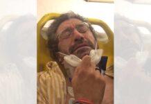 Entre lágrimas en el hospital, tras se atropellado en el Día de la Bicicleta en un Carril 30 de Madrid