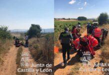 Un-ciclista-inconsciente-al-chocar-contra-otro-en-un-camino-en-Valladolid