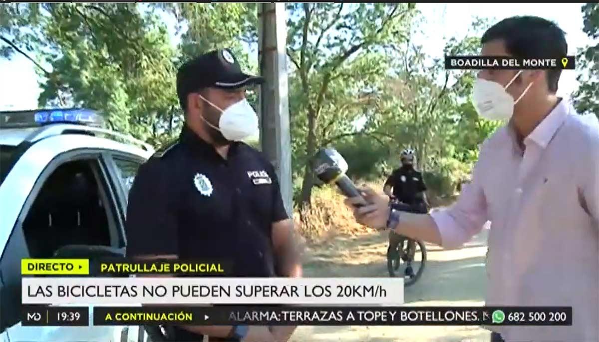 Vídeo: Así ponen las multas por superar los 20 km/h en bicicleta en Boadilla del Monte