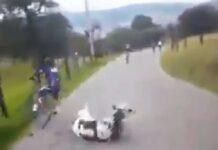 Vídeo: Una vaca embiste a un ciclista y le tira al suelo