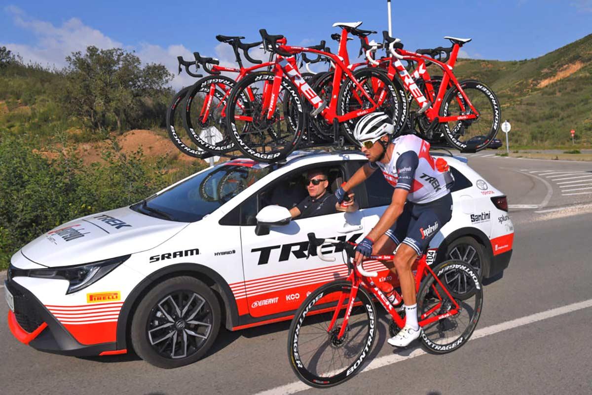 La marca de coches Toyota aparecerá en los maillot del equipo ciclista Trek-Segafredo