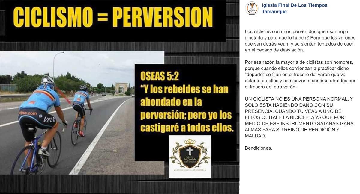 Los ciclistas no son normales, son unos pervertidos que usan ropa ajustada para provocar
