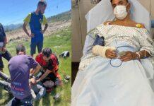 Purito-Rodríguez-tiene-una-fuerte-caída-en-Vallnord-bike-park-con-su-bicicleta