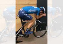 Vídeo: ¡Como una tabla de planchar! Así es la postura sobre la bici de este ciclista del Movistar Team