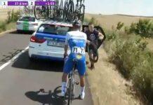 Vídeo: Con atornillador eléctrico. Así cambian la rueda de Evenepoel con freno de disco en la Vuelta a Burgos