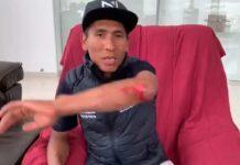 Vídeo: Nairo Quintana atropellado por un coche mientras entrenaba en bicicleta