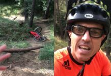 Vídeo-Un-ciclista-de-León-cae-en-una-trampa-en-un-sendero.-Su-mensaje-es-bien-claro