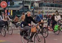 Vídeo: Un escape de gas provoca el corte del carril bici más concurrido de los Países Bajos y ocurre esto