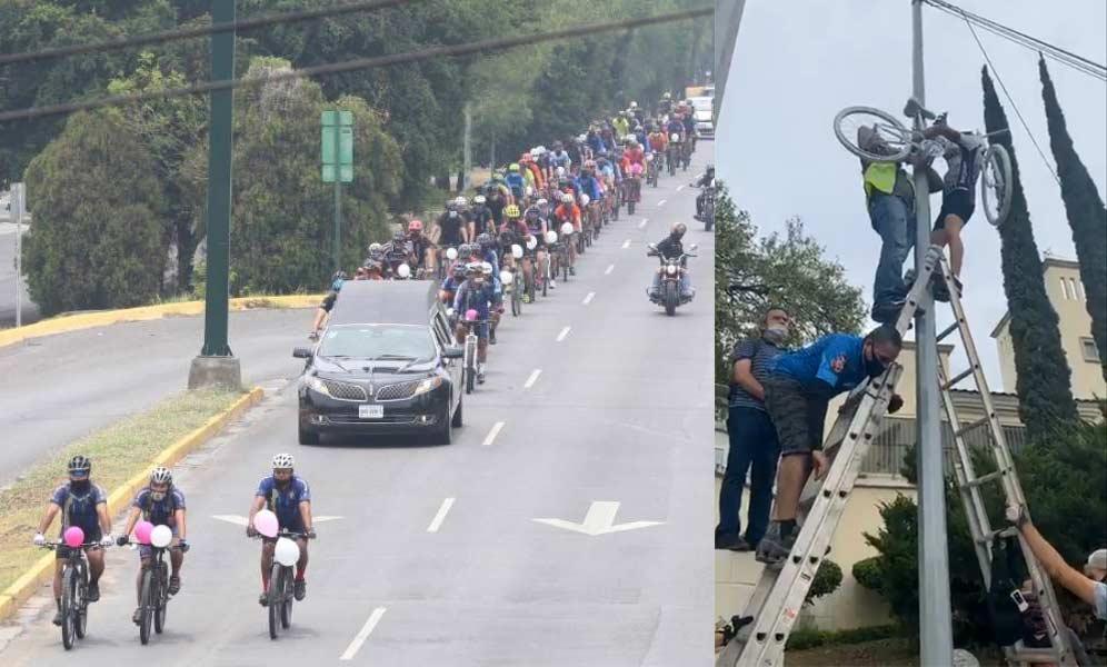 Más de 150 ciclistas quisieron pedalear por última vez con la ciclista atropellada la pasada semana Cristina Serna - @publimetro