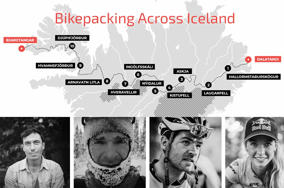 913 km, Emily Batty, Islandia, Bikepaking, Chris Burkard, 11 días, Autosuficiencia, 4 ciclistas