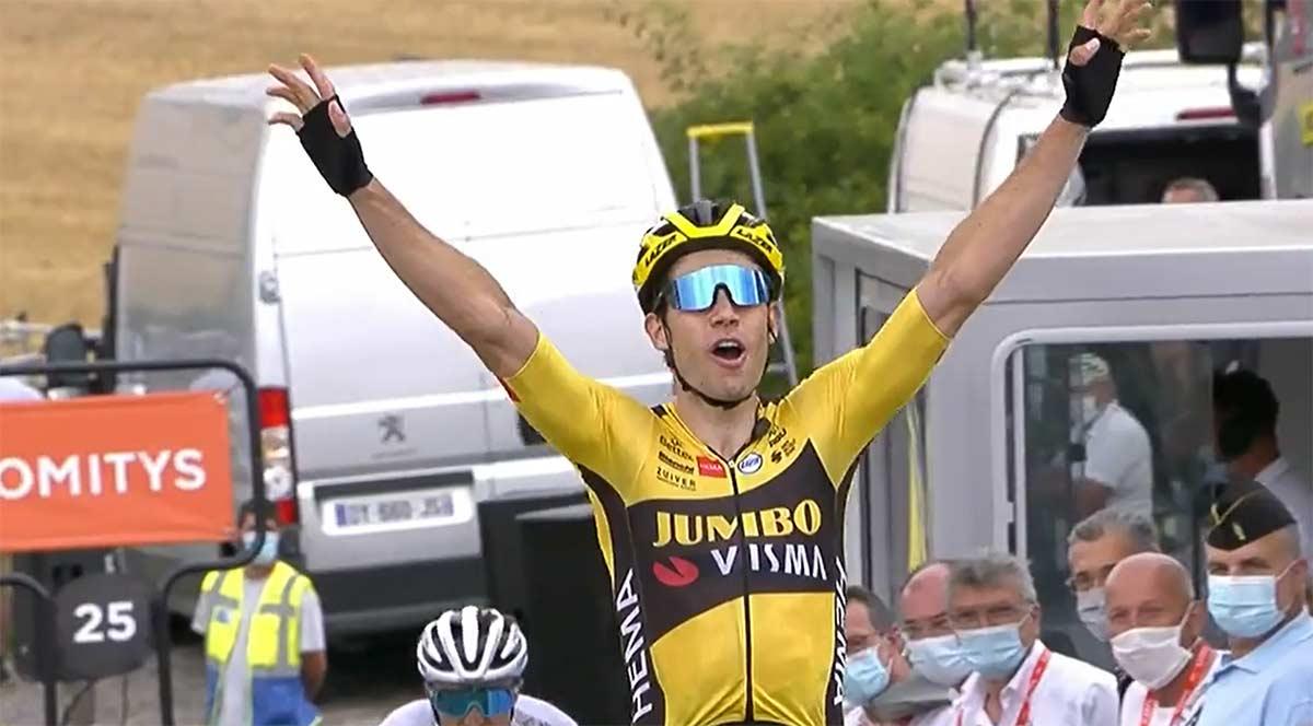 El Jumbo-Visma domina la primera etapa del Dauphine. Egan Bernal tercero