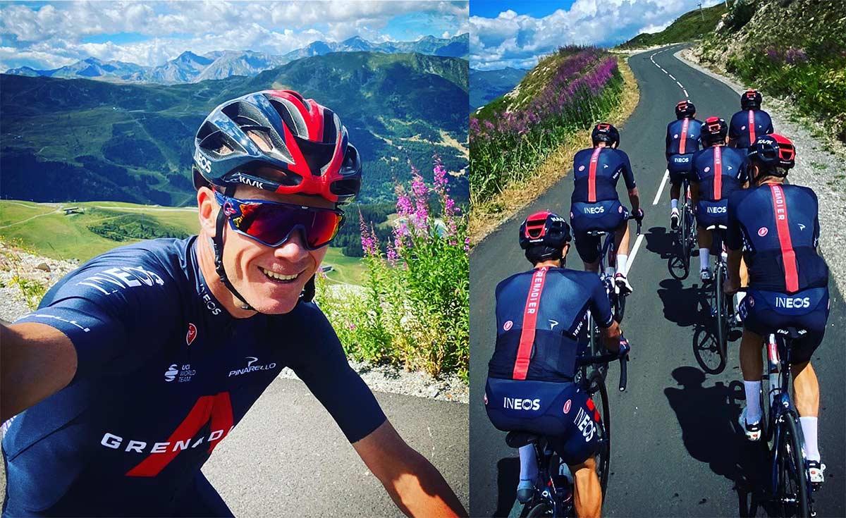 Froome muestra la equipación del Team Ineos Grenadier que no lucirá en el Tour