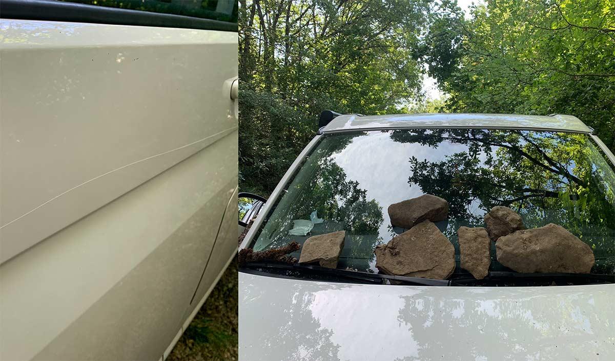Le rayan la furgoneta y se la llenan de piedras en Pirineos por hablar Euskera