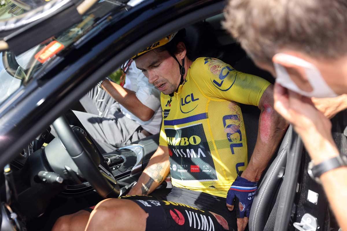 Primoz Roglic abandona el Critérium Dauphine 2020 cuando iba líder y no saldrá en la última etapa