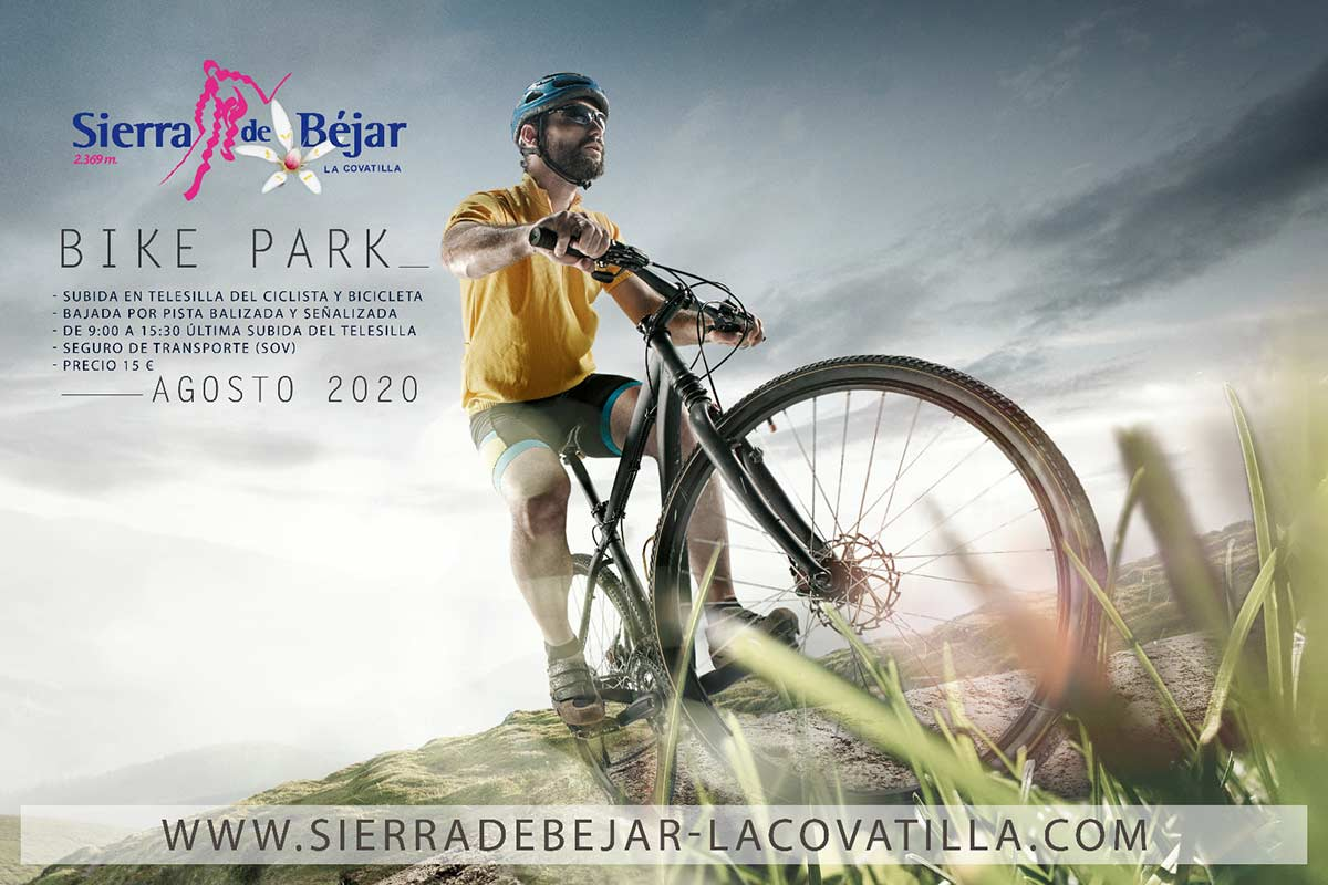 ¿Una bicicleta de paseo para anunciar el Bike Park de Bejar-La Covatilla? Only in Spain...