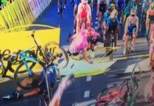 Vídeo: Espeluznante caída provocada por un codazo en la Vuelta a Polonia
