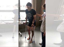 Vídeo: Remco Evenepoel intentando mover las piernas por primera vez tras su accidente