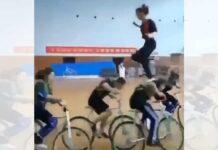 Vídeo: ¿Una chica corriendo encima de un grupo de ciclistas? Sí, has leído bien