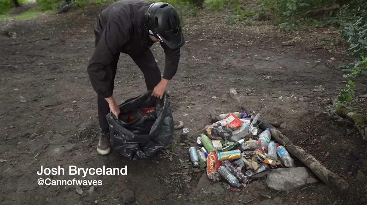 Video-Nunca-habia-visto-tanta-basura-en-estos-senderos-Josh-Bryceland