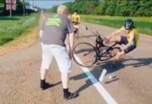 Vídeo: Pescando ciclistas en la carretera. Algo no sale bien...