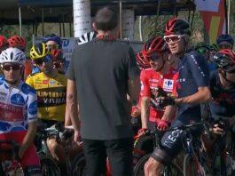 Chris Froome detiene la salida de La Vuelta en protesta contra los comisarios de la UCI
