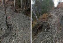"""Ciclistas, motoristas y senderistas destrozan el """"Flow Trail"""" de Laviana, Asturias"""