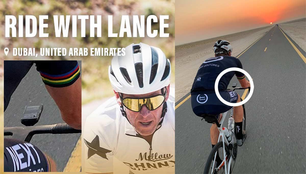 Lance Armstrong, embajador en Dubai, oculta los Vatios y las pulsaciones