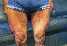 Las impresionantes piernas del ciclista del Team Movistar en La Vuelta