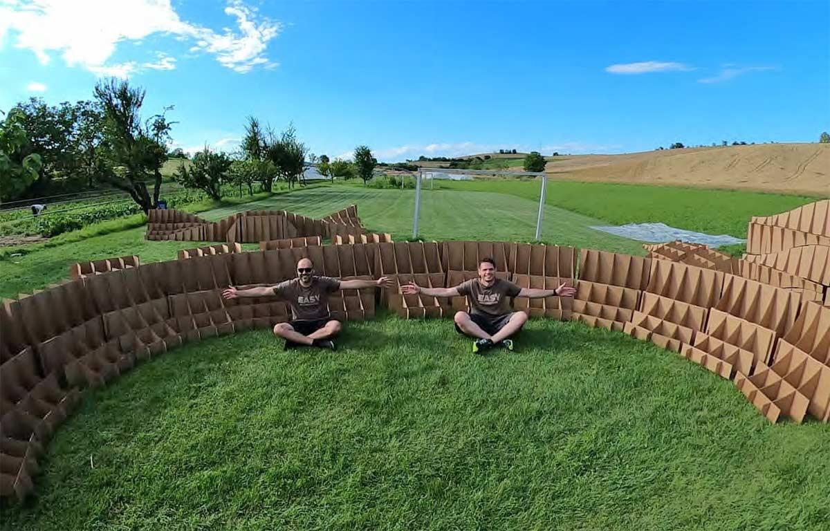 ¿Pumptrack modulares de cartón reciclado? Circuitos de bicicletas eco-friendly