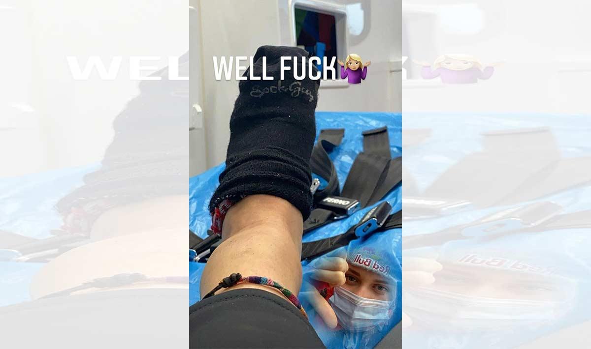 Vali Höll se lesiona en una caída y queda fuera de la final del Mundial de Leogang