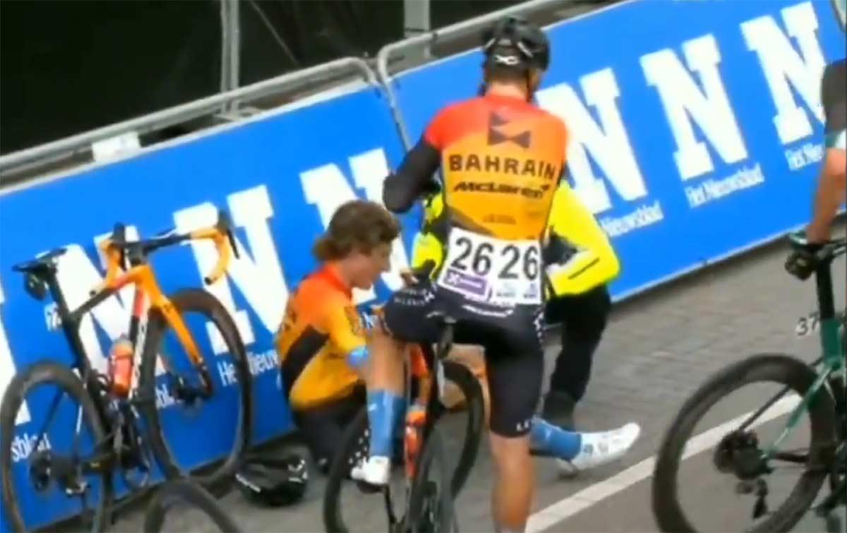 Vídeo: Tremenda caída de Iván Cortina: rotura de escafoides y luxación de hombro