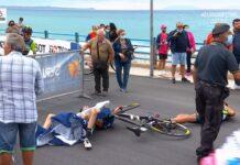Vídeo: Un helicóptero podría haber sido el causante de una grave caída en el Giro de Italia