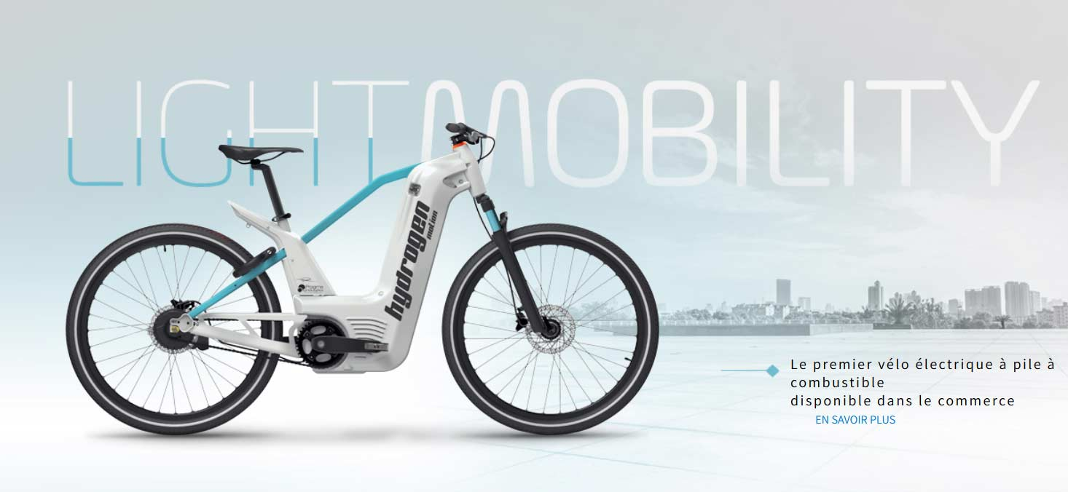 Bicicletas de hidrógeno: Un sobre con polvos, un poco de agua, y a pedalear