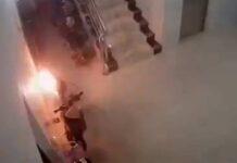 La batería de una bicicleta eléctrica causa una explosión e incendia una casa