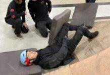 Brett-Rheeder-se-fractura-el-femur-montando-en-el-bike-park-indoor-de-Air-Rec-Center