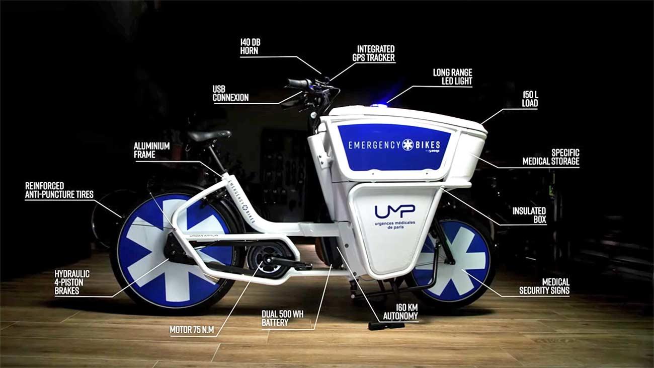 Vídeo: Así es la bicicleta eléctrica ambulancia, una e-bike de carga para salvar vidas