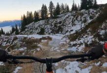 Vídeo: ¿Montar en bicicleta con nieve en el bike park? Caluori y su bicicleta eléctrica nos lo explican