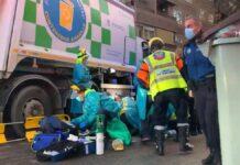 Vídeo: Un camión de basura atropella mortalmente a un ciclista en Madrid