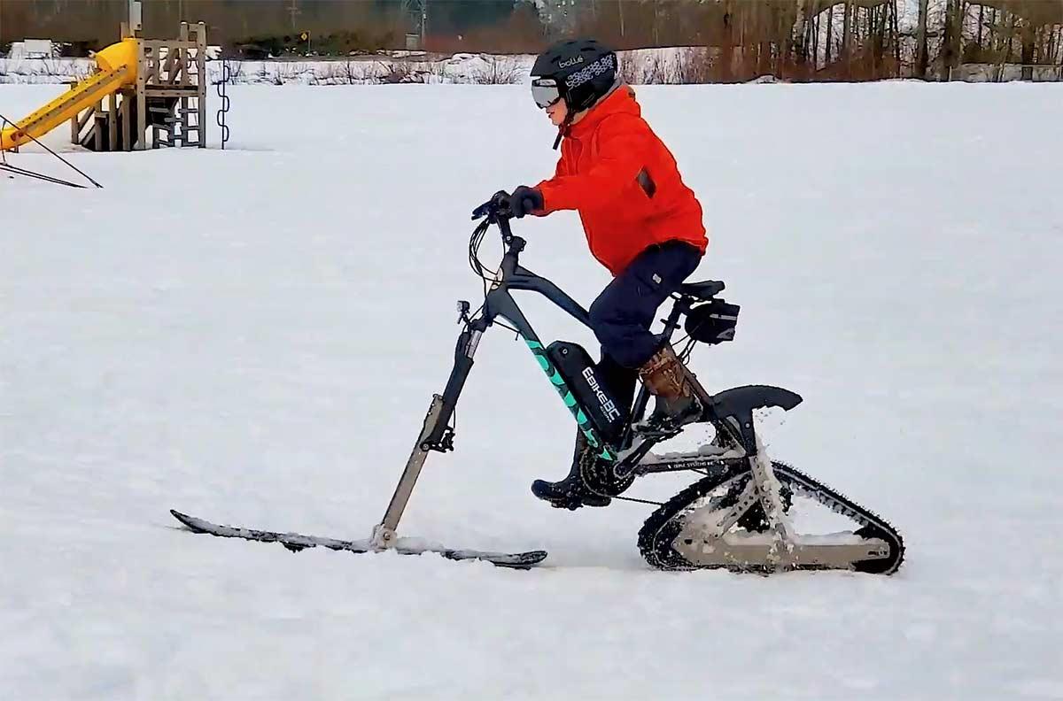 Cómo hacer una bicicleta eléctrica para la nieve