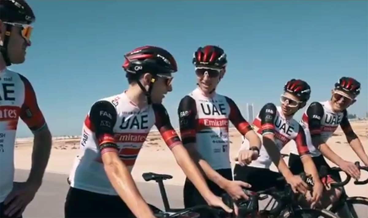 El vídeo de bienvenida del UAE-Team Emirates a Marc Hirschi