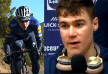 Fabio Jakobsen vuelve tras su caída con su equipo Deceuninck-Quickstep en España