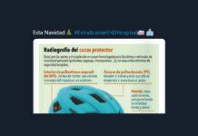 """La DGT: """"Conductor de bici, utiliza el casco. Esta Navidad #EvitaAcabarEnElHospital"""""""
