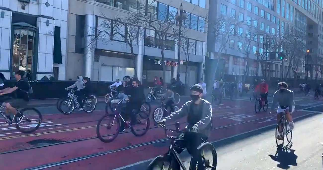 Vídeo: Invasión de bicicletas en San Francisco
